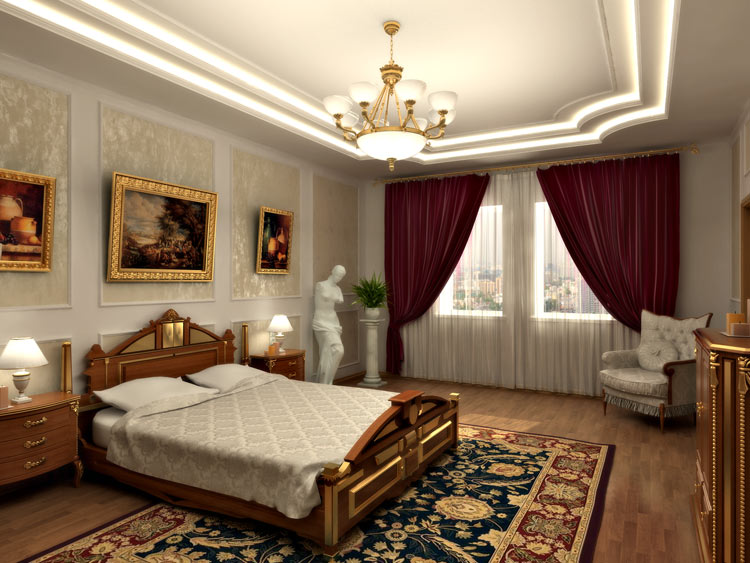Планировка и расстановка мебели в спальне с примерами и фото